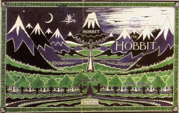 Рисунок Дж. Р. Р. Толкина, обложка первого издания книги «Хоббит», 1937 г.