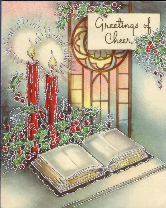 Малыша, рождественская открытка в англии