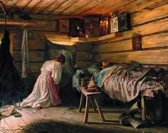 Максимов. Больной муж. 1881.