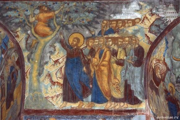 Покаявшийся Закхей. Ярославль. Церковь Богоявления