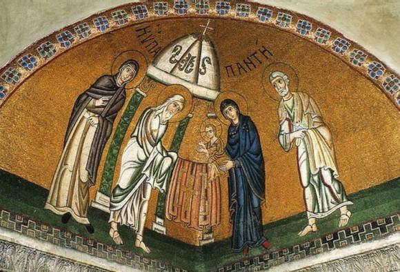 Мозаика собора монастыря Осиос Лукас в Фокиде. 30-е годы XI в. Греция