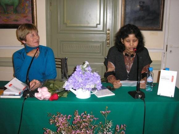 Ольга Седакова и Мара Маланова. Фото: Ольга Балла