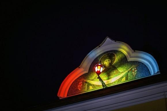 Светопредставление.  (Иоанно-Богословский мужской монастырь в Пощупово. Рязанская область)