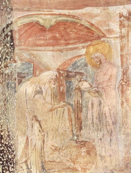 Фреска церкви Санта Мария в Кастельсеприо. Конец VII — начало VIII в. Италия