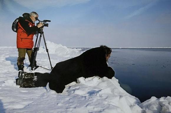Паломничество на Соловки. На дрейфующей льдине в Белом море, 2008 год. Фото из личного архива протодиакона Андрея Кураева