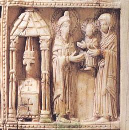 Фрагмент резной иконы. 2-ая половина X в. Византия. Государственный Эрмитаж, Спб.