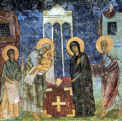 Фреска Спасо-Преображенского собора Мирожского монастыря. Около 1156 г. Псков