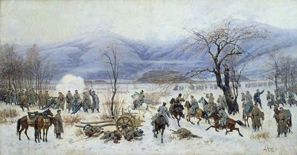 Сражение у Шипки-Шейново 28 декабря 1877 года. (Кившенко А. Д., 1894)