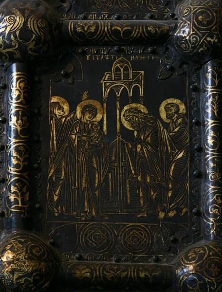 Западные врата Богородице-Рождественского собора. 1227—1238 гг. Владимиро-Суздальский музей-заповедник. Фрагмент