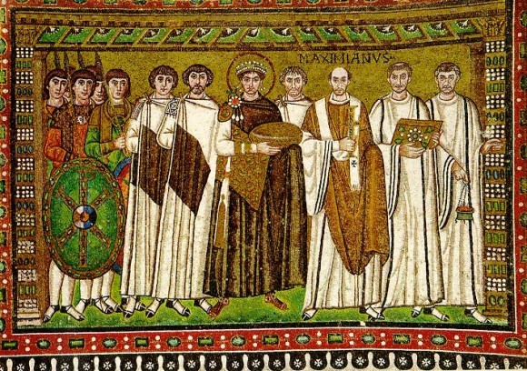 Император Юстиниан. Равенна, мозаика
