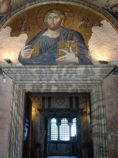 Мозаика Христос Вседержитель