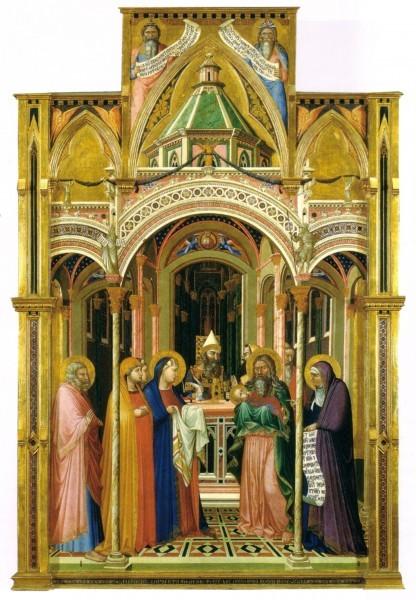 Амброджо Лоренцетти. Сретение. 1342 г. Галерея Уффици, Флоренция, Италия