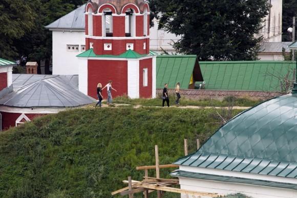 Остатки земляных валов вокруг Кремля