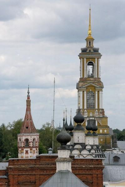 Колокольня Ризоположенского женского монастыря (основан в 1207 г.) Самая высокая точка Суздаля