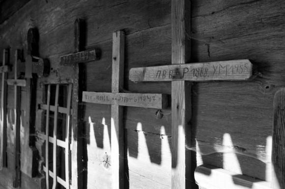Похоронные кресты. (Закарпатье)