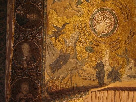 Мозаики свода экзонартекса