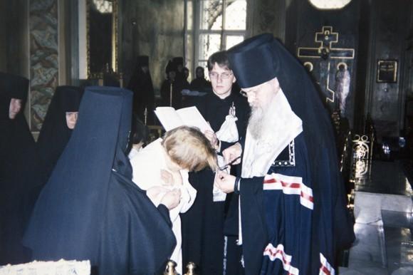 Монашеский постриг. 2000 год