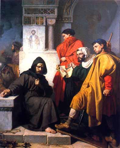 Иконоборцы. Картина Доменико Морелли, XIX век.