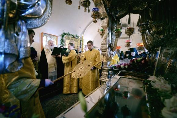 Патриарх Кирилл заложил камень в основание часовни