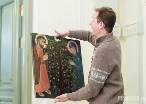 На выставке картин Елены Черкасовой