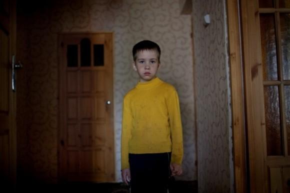 Русский немец в четвёртом поколении Дмитрий, 8 лет, у себя дома. Короткерос, Россия