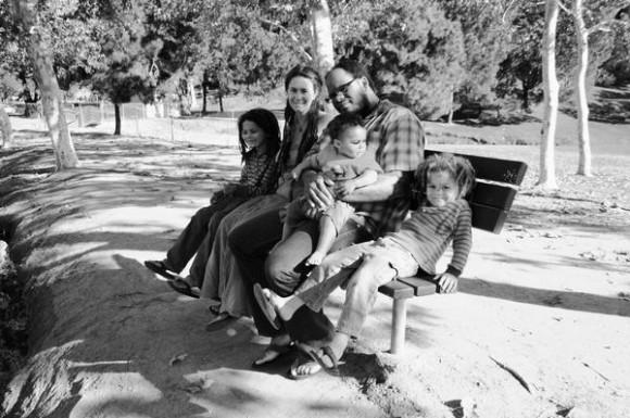 Турбо с женой и детьми