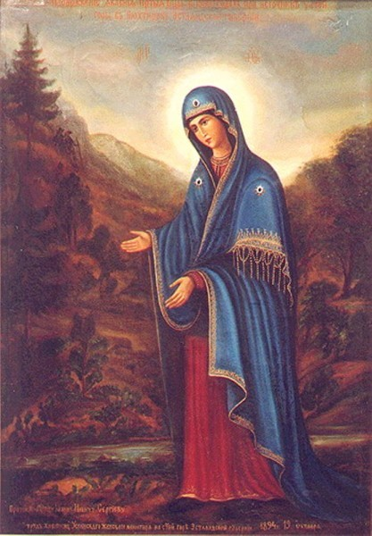 Образ Пюхтицкой Божией Матери «У источника»