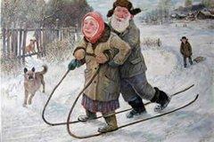 Дед да баба художника Леонида Баранова