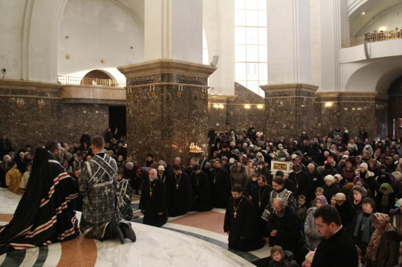 Прощеное воскресенье в Кафедральном соборе Христа Спасителя г.Калининграда
