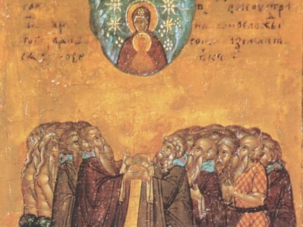 Церковь празднует память всех всех преподобных отцов, в подвиге просиявших