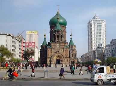 Софийский собор в Харбине, построен в 1910 г. Сейчас считается памятником культуры КНР