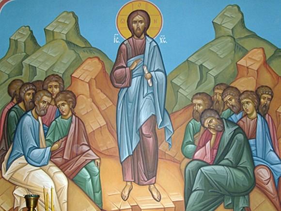Нагорная проповедь. Роспись в Богоявленском Красносельском храме Костромы