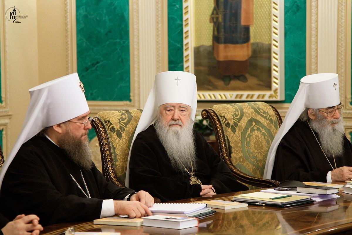 В Москве проходит заседание Священного Синода Русской Церкви