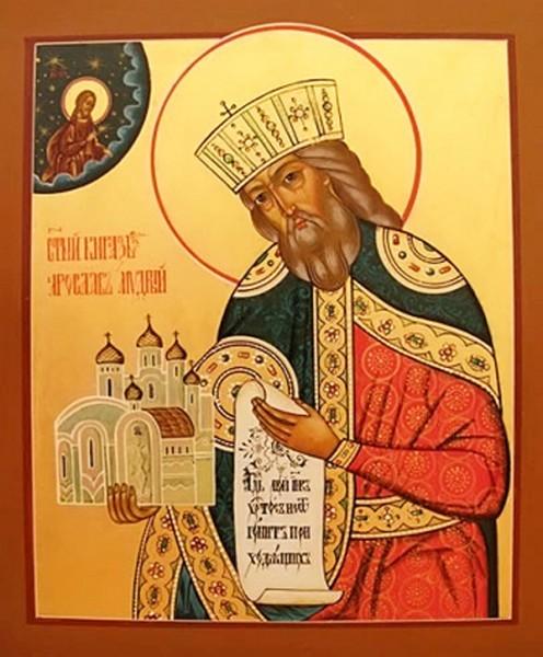 Церковь чтит память святого благоверного князя Ярослава Мудрого