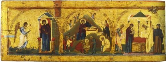 Благовещение, Рождество Христово, Сретение. XII в., монастырь святой Екатерины, Синай
