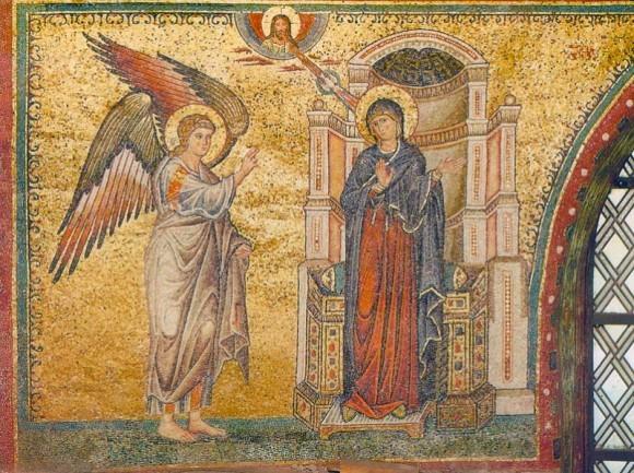 Благовещение. Мозаика храма Санта-Мария-Мадджоре. 1295 г.