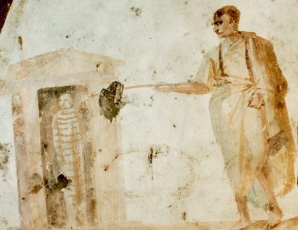 Фреска катакомб Джордани. IV в. Рим