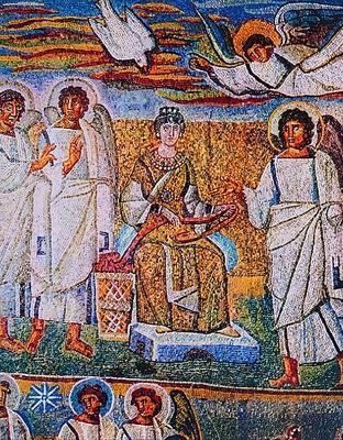 Триумфальная арка базилики Санта Мария Маджоре. 432-440 г. Рим. Фрагмент