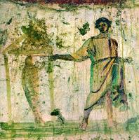 Фреска катакомб Петра и Марцеллина. 2-ая пол. III — 1-ая пол. IV в. Рим