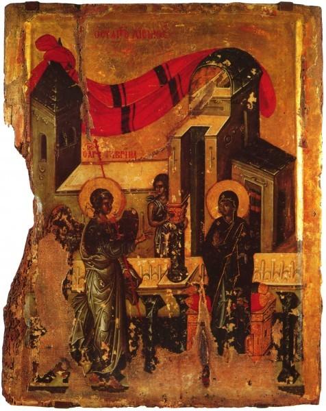 Византийская икона. 1-ая четв. XIV в. ГМИИ им. А.С. Пушкина, Москва