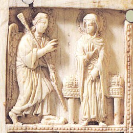 Резная икона из слоновой кости. 2-ая пол. X в. Византия. Государственный Эрмитаж. Фрагмент