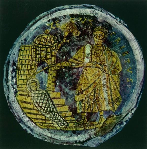 Донце поминального сосуда. IV в. Музей Пио-Кристиано, Ватикан