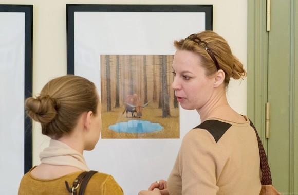 Дарья Юдина возде работ Игоря Олейникова