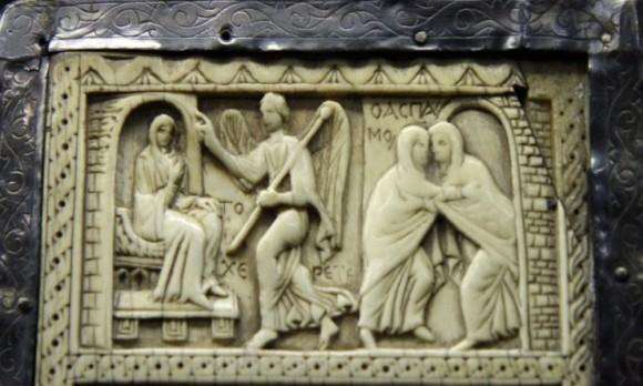 Диптих из слоновой кости. VI в. Сокровищница Дуомо, Милан. Фрагмент