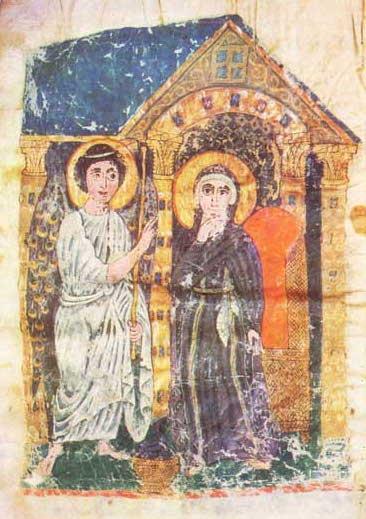 Миниатюра Эчмиадзинского Евангелия. 989 г. Институт древних рукописей Матернадаран, Ереван, Армения