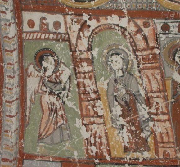 Фреска пещерной церкви Пюренли Секи. X- 1ая пол. XI в. Каппадокия, Турция