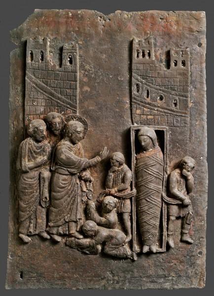 Пластина бронзовых дверей. 1170 - 1220 г. Кафедральный собор г. Беневенто, Италия