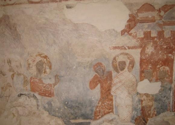 Фреска собора Рождества Богородицы Снетогорского монастыря. 1313 г. Псков.
