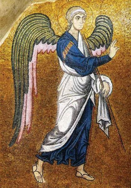 Архангел из композиции «Благовещение». Мозаика ц. Успения в Дафни. Около 1100г. Греция