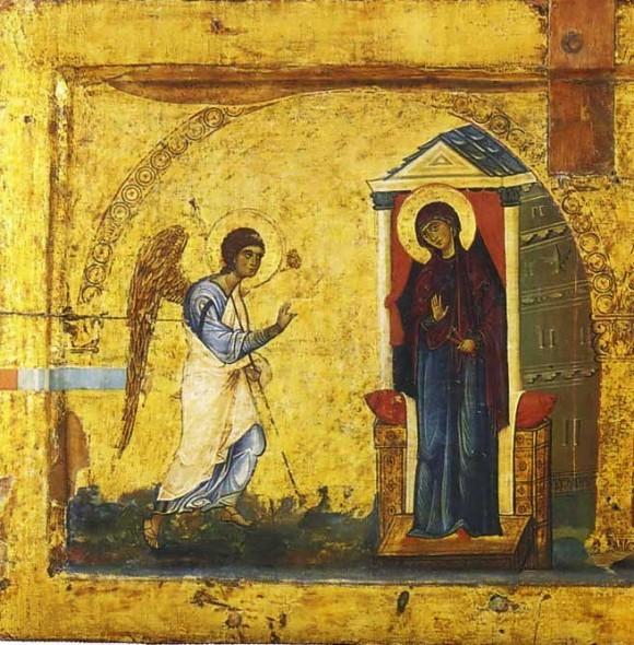 Икона-эпистилий. 2-ая пол. XII в. Монастырь св.Екатерины, Синай. Фрагмент